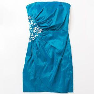 Caché Teal Short Cocktail Dress